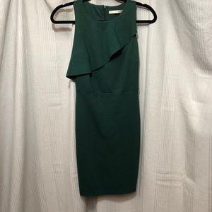 TRAFALUC – ZARA HUNTER GREEN SLEEVELESS DRESS